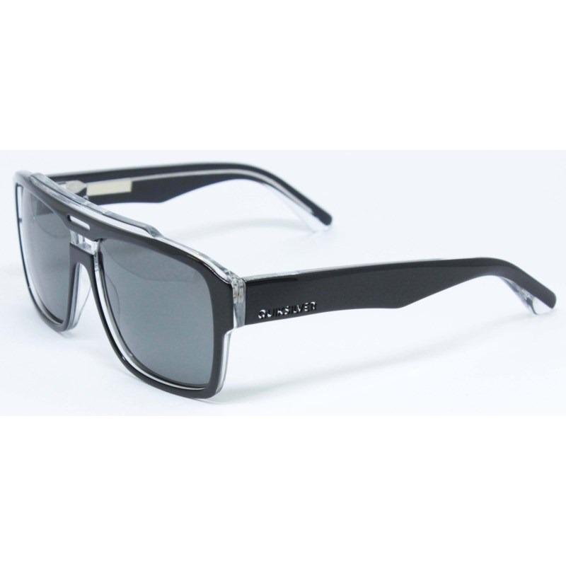 5900286a8025 Óculos De Sol Quiksilver Parker Shiny Black Grey - R  600