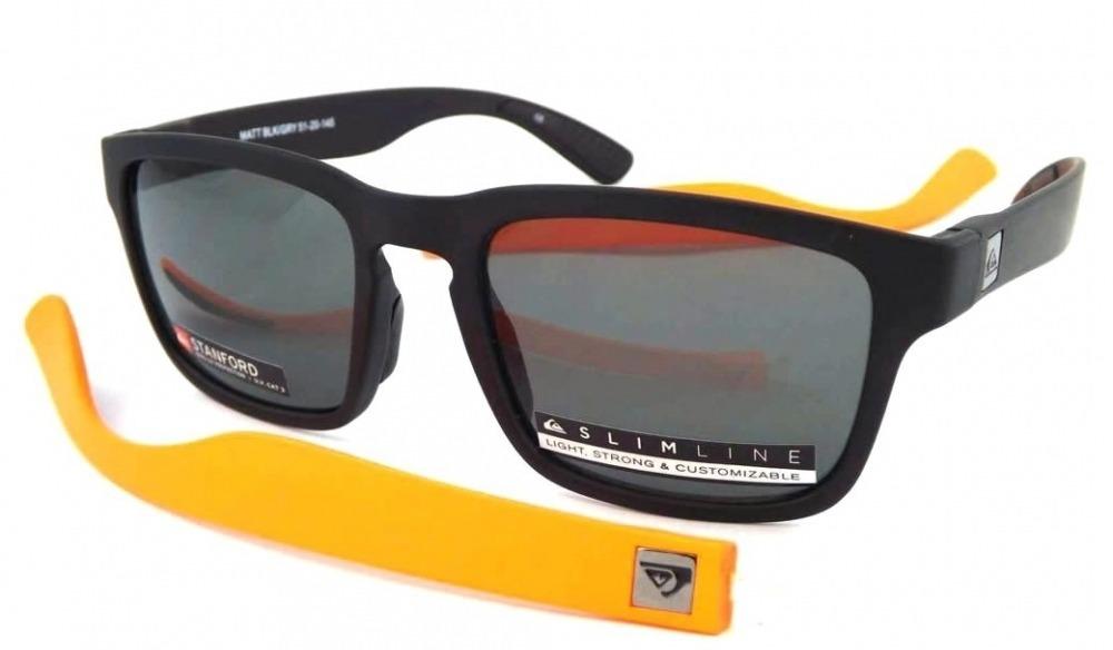 8c0feb8953176 óculos de sol quiksilver stanford preto laranja. Carregando zoom.