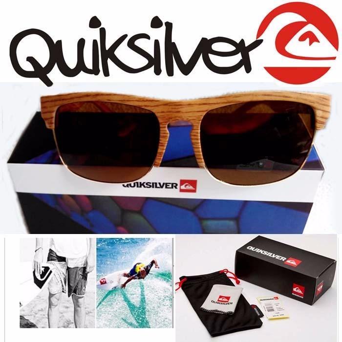 9650c217fbe9f Óculos De Sol Quiksilver The Ferris Madeira Bambú - R  79,99 em Mercado  Livre