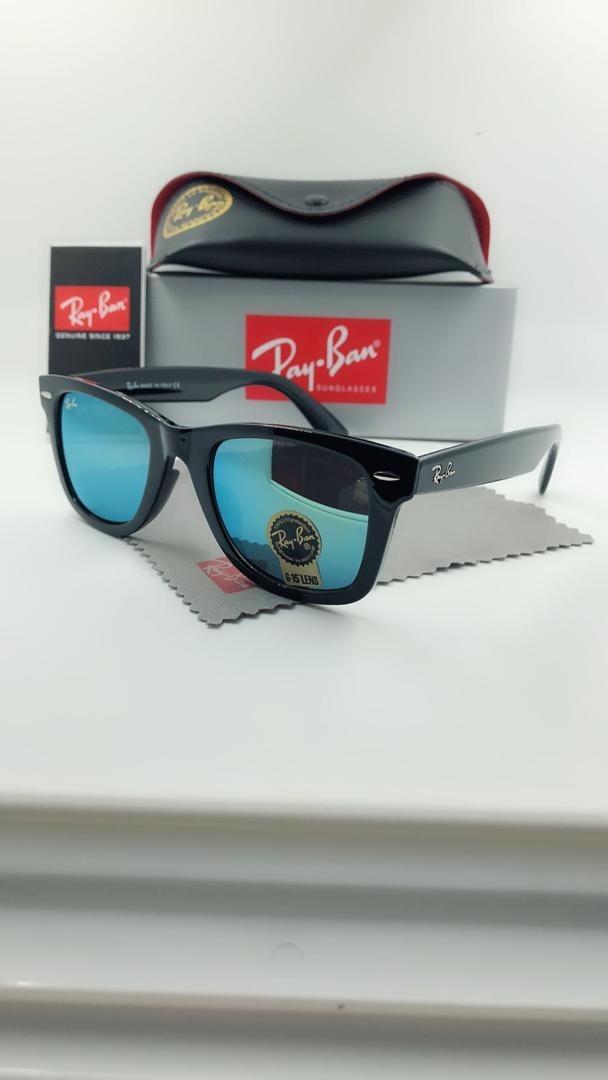 30fe69579 óculos de sol ray-ban 2140 armaçao preto lentes azul claro. Carregando zoom.