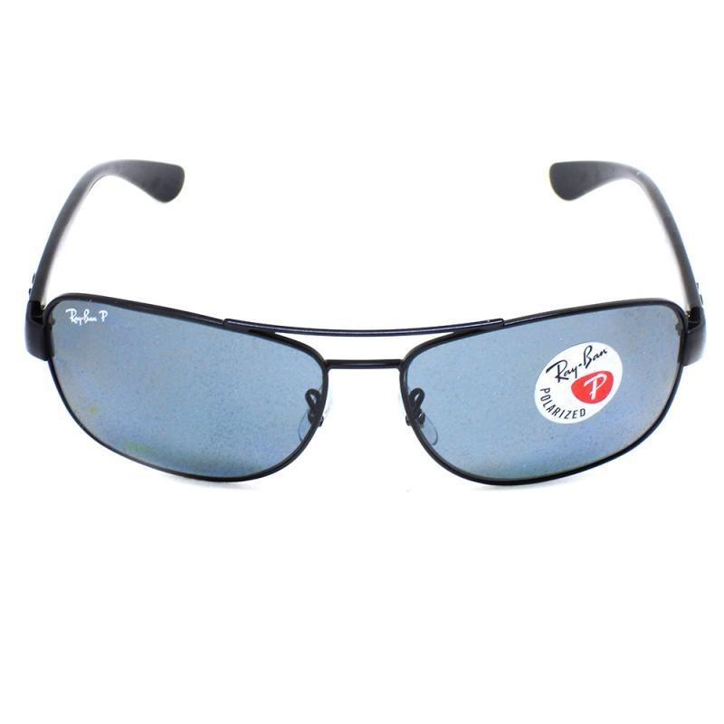 óculos de sol ray ban 3518 t 63 c 006 81 po preto polarizado. Carregando  zoom. afe84c03ac