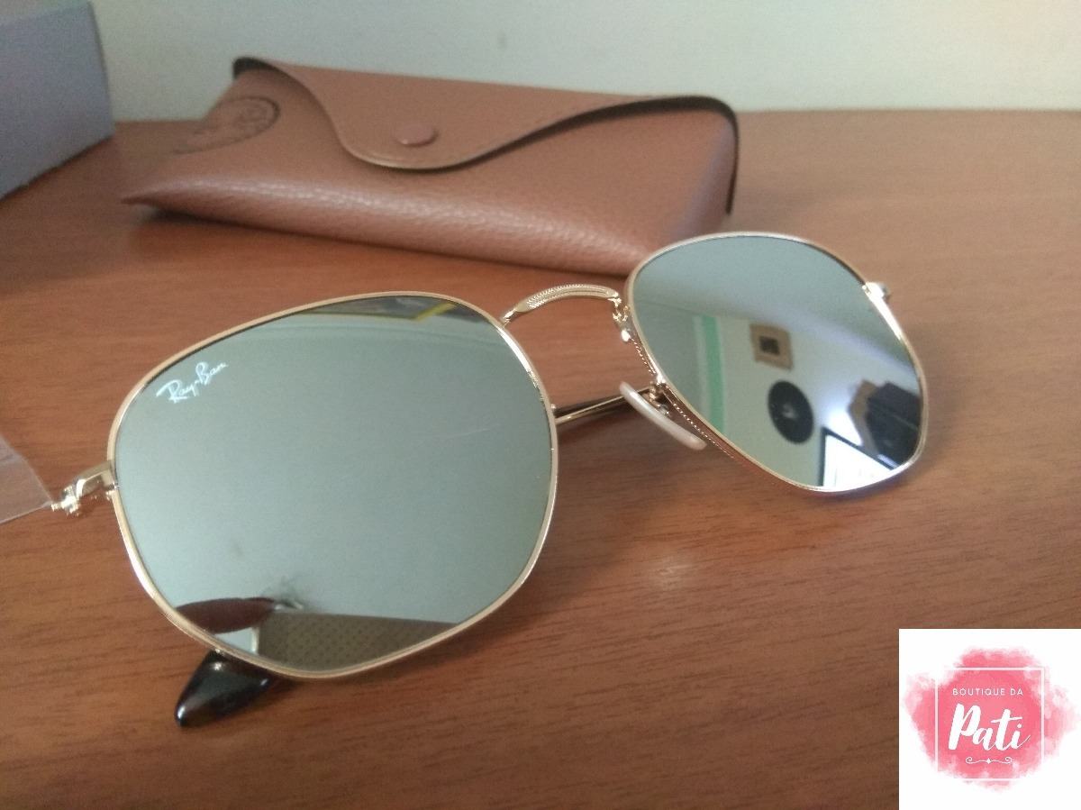 óculos de sol ray ban 3548 hexagonal barato varias cores. Carregando zoom. 855628628b