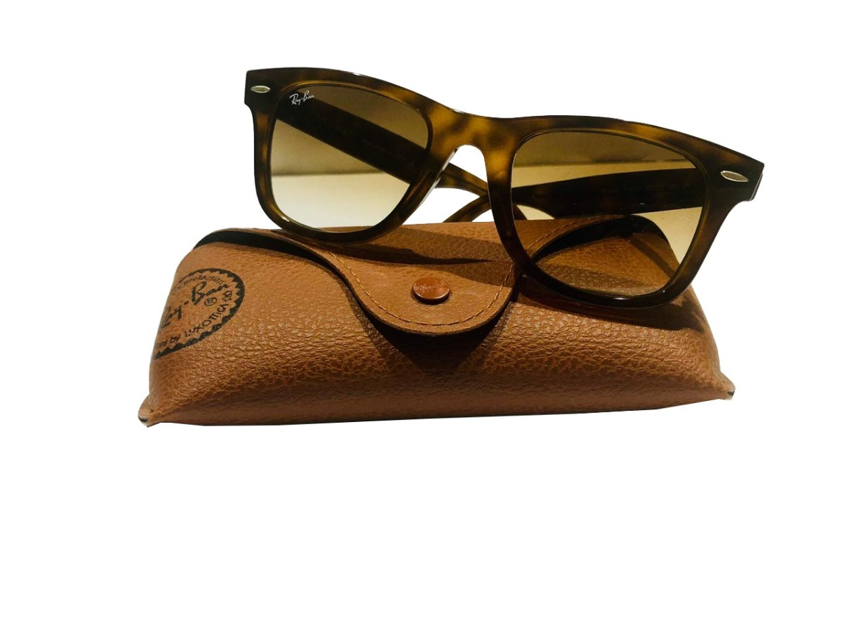 235ac3c9720c4 Óculos De Sol Ray-ban 4340 710 51 Wayfarer Ease Tartaruga - R  600 ...