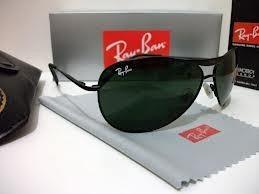 b6839c9a20b69 Óculos De Sol Ray Ban 8015 Armação Preta Lente Verde - R  115,00 ...