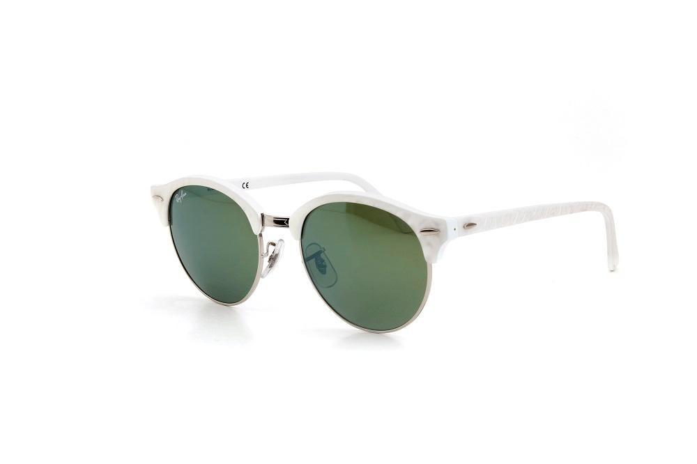 44062d3aa Óculos De Sol Ray Ban Armação Metal Lente Espelhada Branco - R$ 580 ...