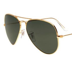 4ff2f38ab Oculos Ray Ban Rb3025 M Aviador Branco Lentes Cinza Escura - Óculos ...