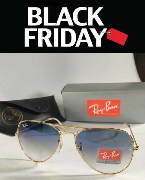 Óculos De Sol Ray Ban Aviador Azul Degradê Lente Cristal - R  78,80 ... f45ae1501a