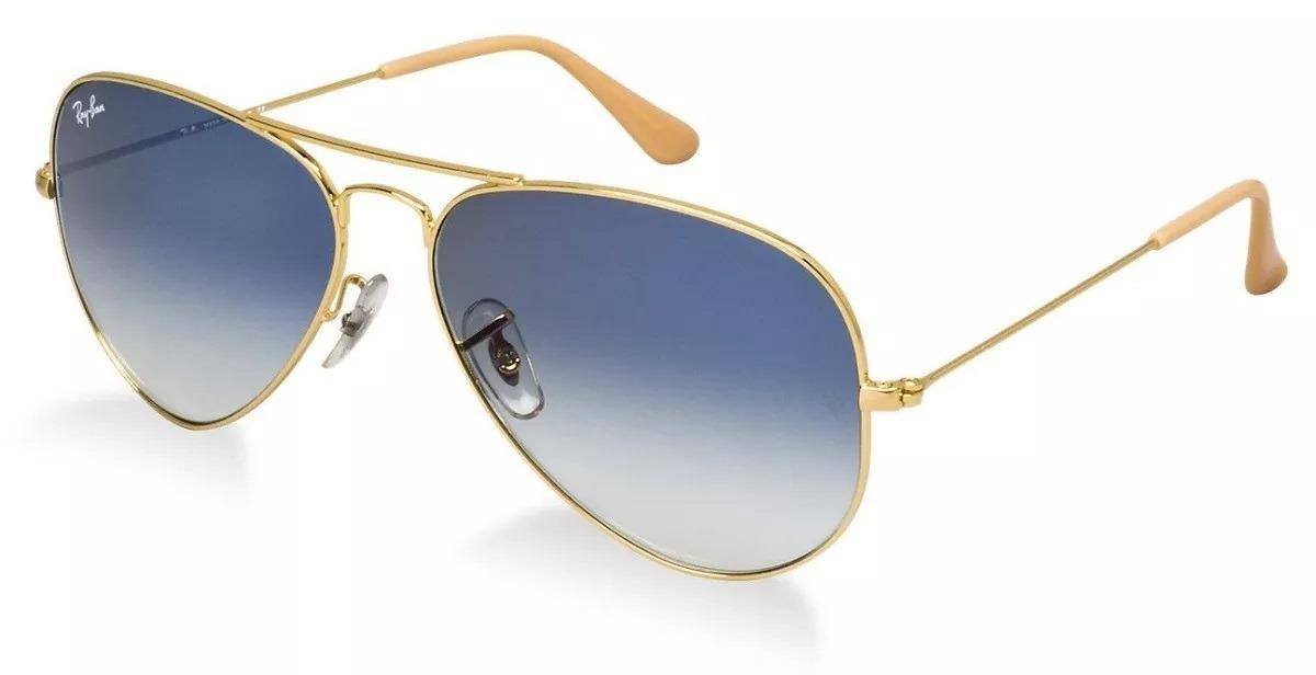8e51379b0d62b óculos de sol ray ban aviador azul degradê lente cristal. Carregando zoom.