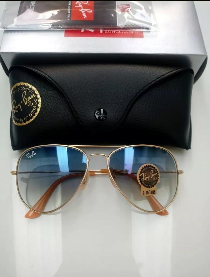 590f5b16ad883 Oculos De Sol Ray Ban Aviador Azul Degrade Rb3025 - R  139,90 em ...