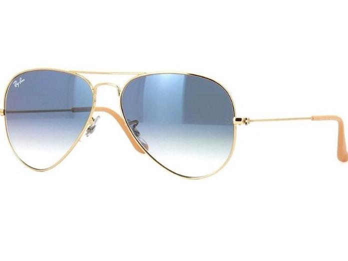 dca1dbef3 Oculos De Sol Ray Ban Aviador Azul Degrade Rb3025 - R$ 139,90 em Mercado  Livre
