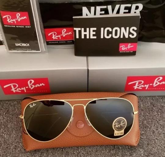 64ca18181 Oculos De Sol Ray Ban Aviador Classic Grande Gg Rb3028 - R$ 195,45 ...