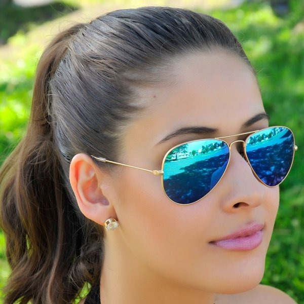 57cd502fbef18 Óculos De Sol Ray Ban Aviador Espelhado Azul Rb3026 Unissex - R  199 ...