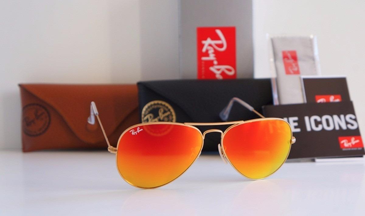 óculos de sol ray ban aviador espelhado vermelho rb3025 3026. Carregando  zoom. 444ffd7802