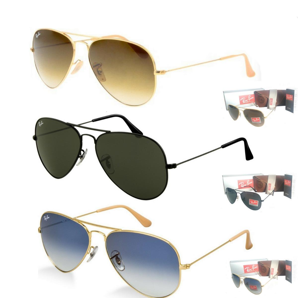 5d0efe40a3ff3 Oculos De Sol Ray Ban Aviador M E G Unissex Promoção 50%off - R  120 ...