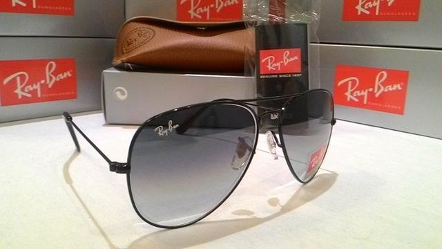 Óculos De Sol Ray Ban Aviador Preto Degradê Lente Cristal - R  78,80 ... ebec292f8b
