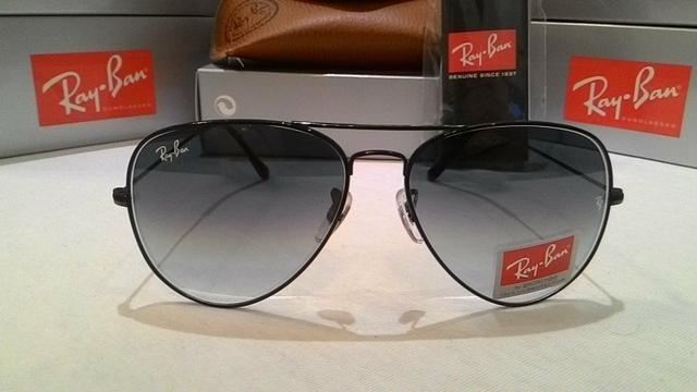 c5796ed58 Óculos De Sol Ray Ban Aviador Preto Degradê Lente Cristal - R$ 300 ...