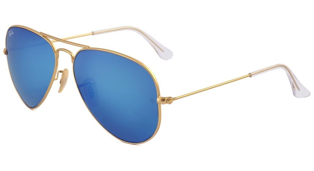 Óculos De Sol Ray Ban Aviador Rb 3025 112 17 Azul - Original - R ... 719137a91b