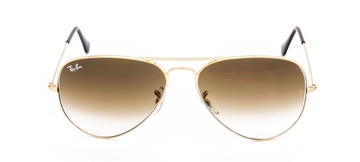 fc46eed6a8863 óculos de sol ray-ban aviador rb3025 marrom degradê cristal. Carregando  zoom.