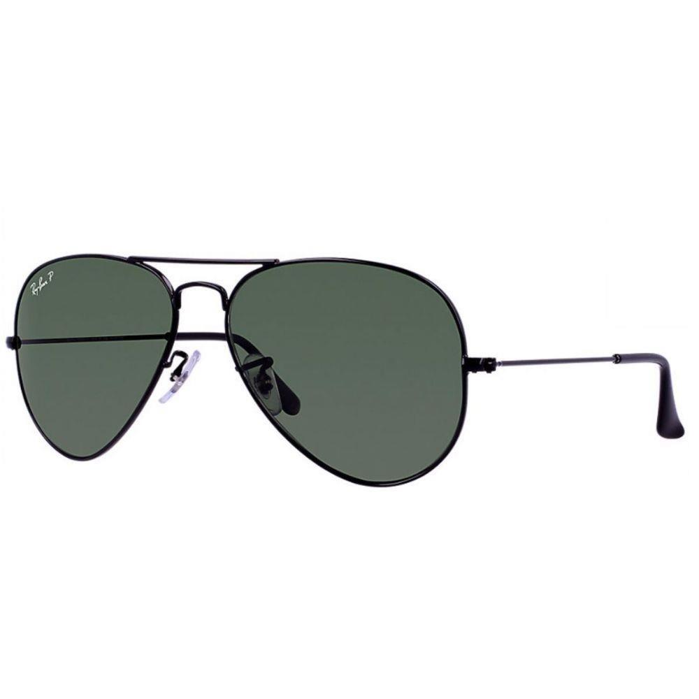 óculos de sol ray ban aviador rb3025 preto lente polarizada. Carregando  zoom. 3e8071e6aa