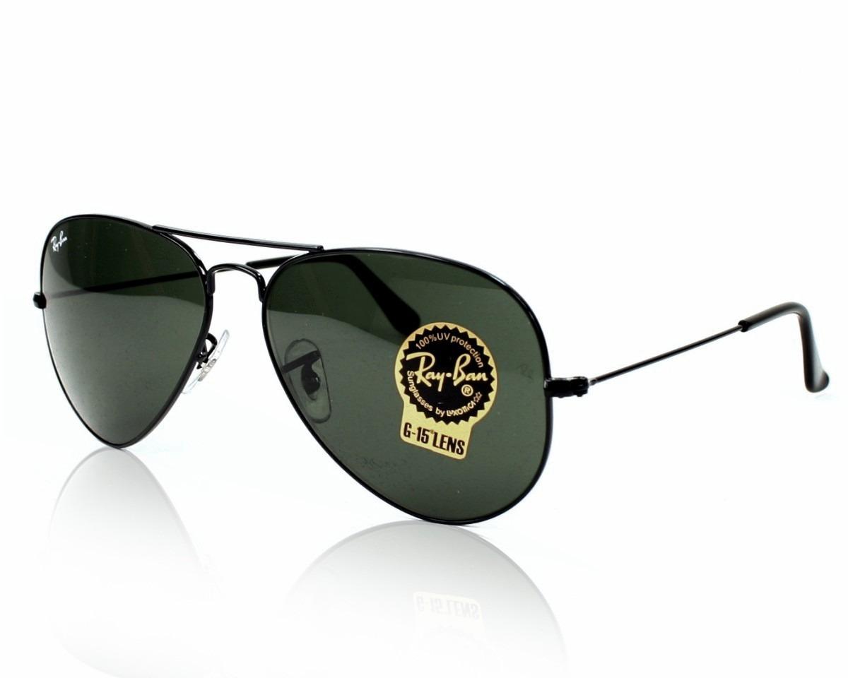 a77edf7db6e12 oculos de sol ray ban aviador rb3025 preto p pequeno 58mm. Carregando zoom.