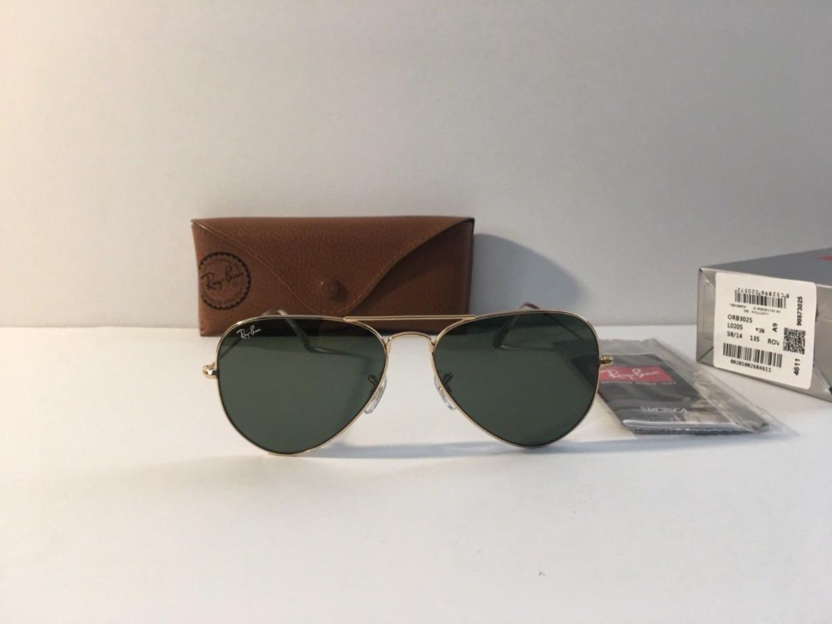 a6a80b0488736 Oculos De Sol Ray Ban Aviador Rb3025 Rb3026 Classic Original - R ...