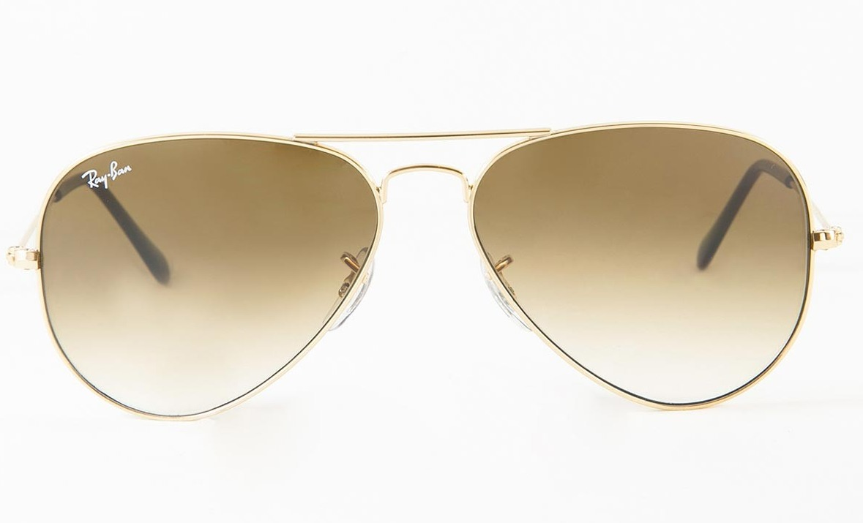 050c2bab2304e óculos de sol ray-ban aviador rb3025l médio marrom degradê. Carregando zoom.