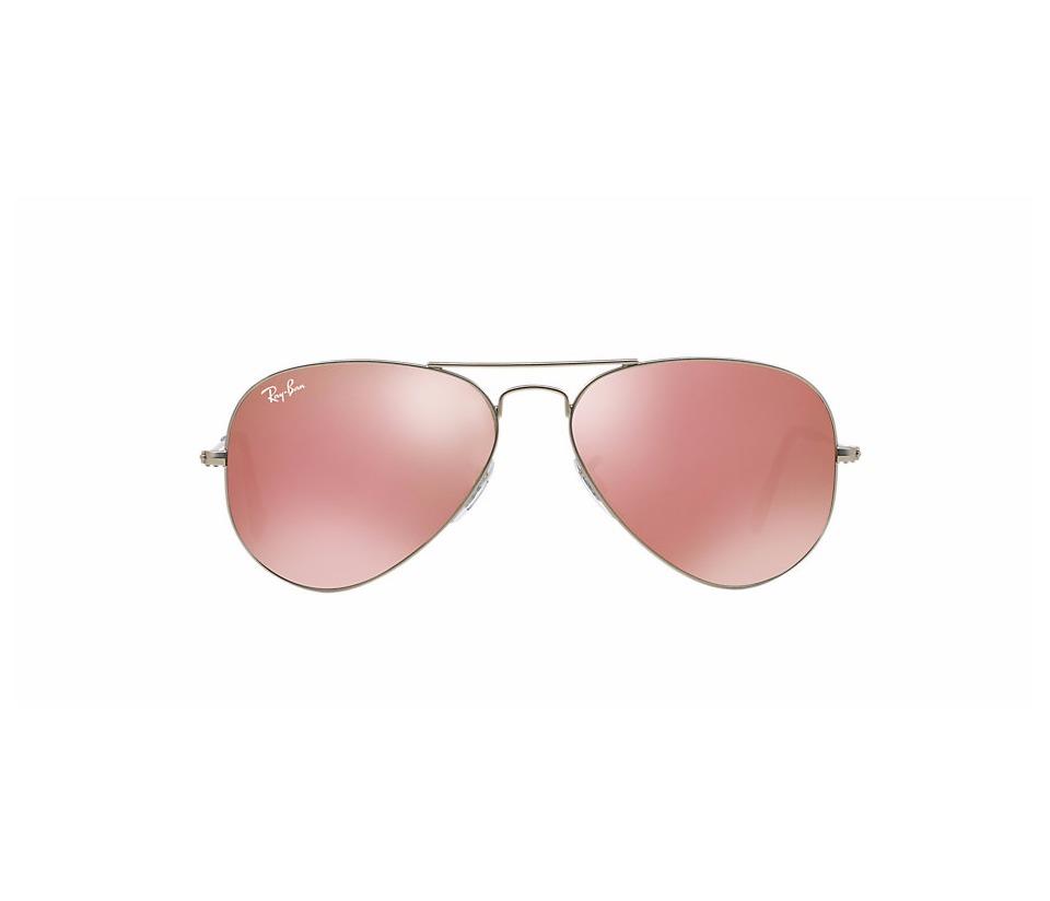4ab72e81c Óculos De Sol Ray Ban Aviador Rosa Espelhado Original - R$ 220,00 em ...