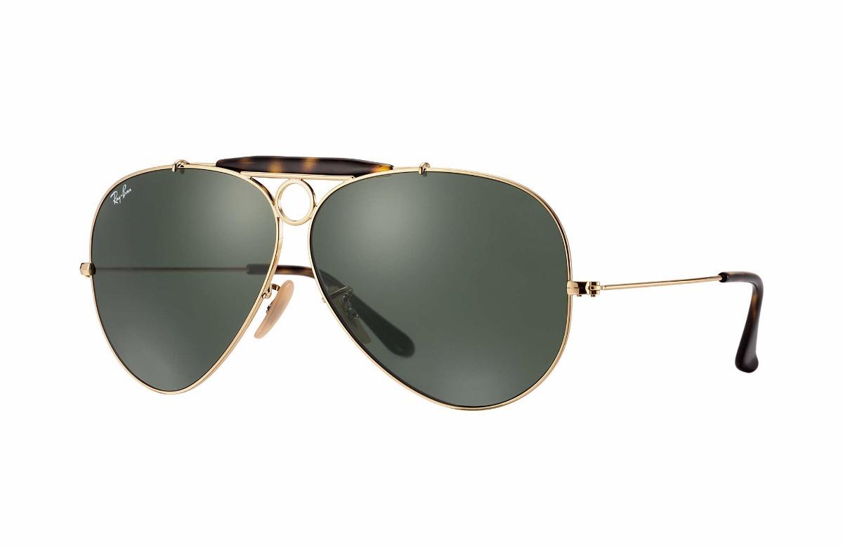 Óculos De Sol Ray Ban Aviador Shooter Havana - R  530,00 em Mercado ... 0b2b7abeee