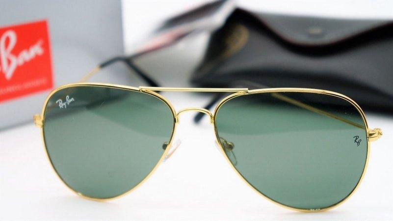 7a1f148b105de óculos de sol ray ban aviador verde lente cristal. Carregando zoom.