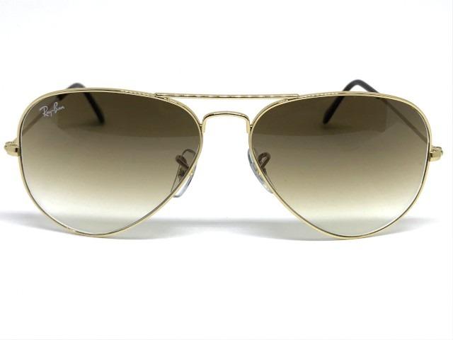 Oculos De Sol Ray Ban Aviador médio Rb 3025l 001 51 58 - R  460 1e02c8a55e9b