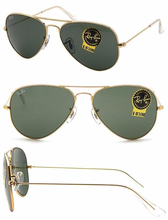 Óculos De Sol Ray Ban Aviator Clássico G-15 - R  500,00 em Mercado Livre c2f89f5417
