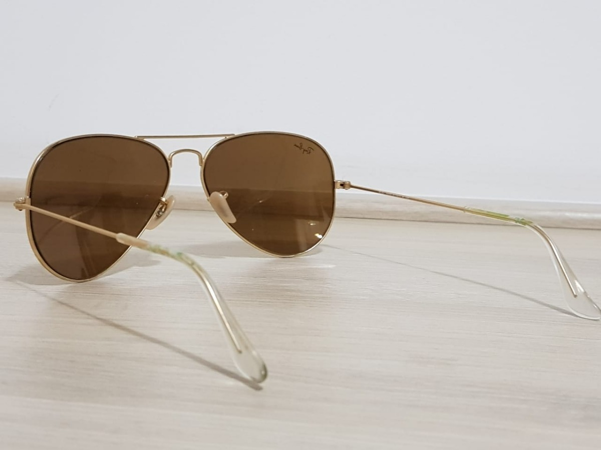 f6a5fb208 Óculos De Sol Ray-ban Aviator Lentes Espelhadas Rb3025 Ouro - R$ 219,00 em  Mercado Livre
