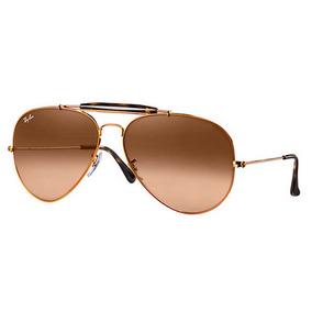 348b9cf2a Óculos De Sol Ray Ban 3025 Aviator Bronze L.marrom Degrade - Óculos no  Mercado Livre Brasil