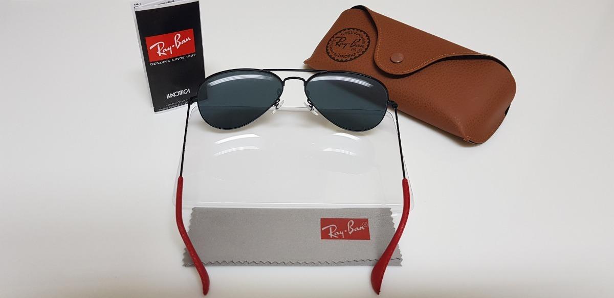 Óculos De Sol Ray-ban Aviator Scuderia Ferrari Lente Cinza. - R  320,00 em  Mercado Livre 3d7584a885