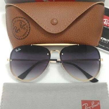 Óculos De Sol Ray Ban Blaze Aviador Preto Com Dourado Origin - R ... 049fe331f9