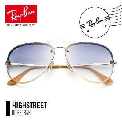 85f440f31 Oculos De Sol Ray Ban Blaze Aviador Rb3584 Azul Degrade Unis - R ...