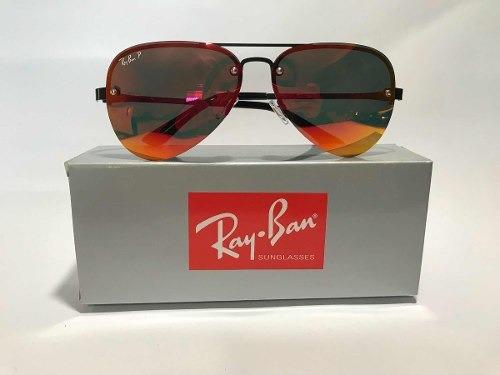 Óculos De Sol Ray-ban Blaze Aviador Vermelho Polarizado Femi - R ... 78b8b9d209