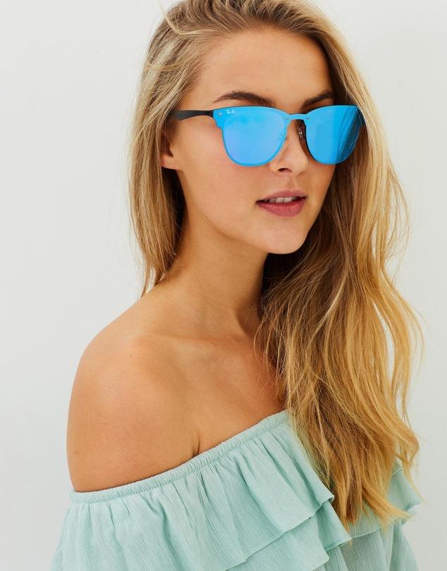 2ce4036bc0661 óculos de sol ray ban blaze clubmaster azul. Carregando zoom.