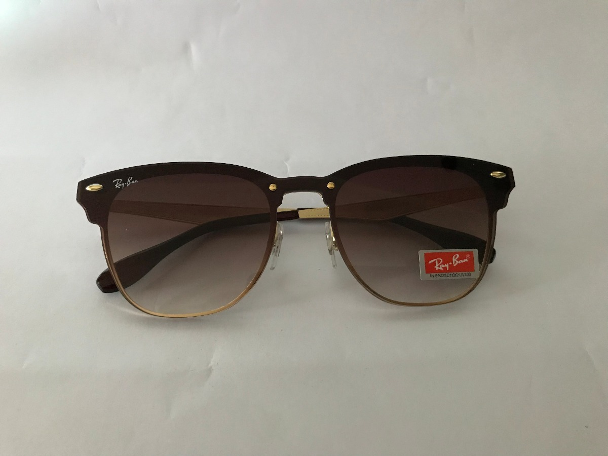 d080887e824f6 Oculos De Sol Ray-ban Blaze Clubmaster Marrom Degrade Unisse - R ...