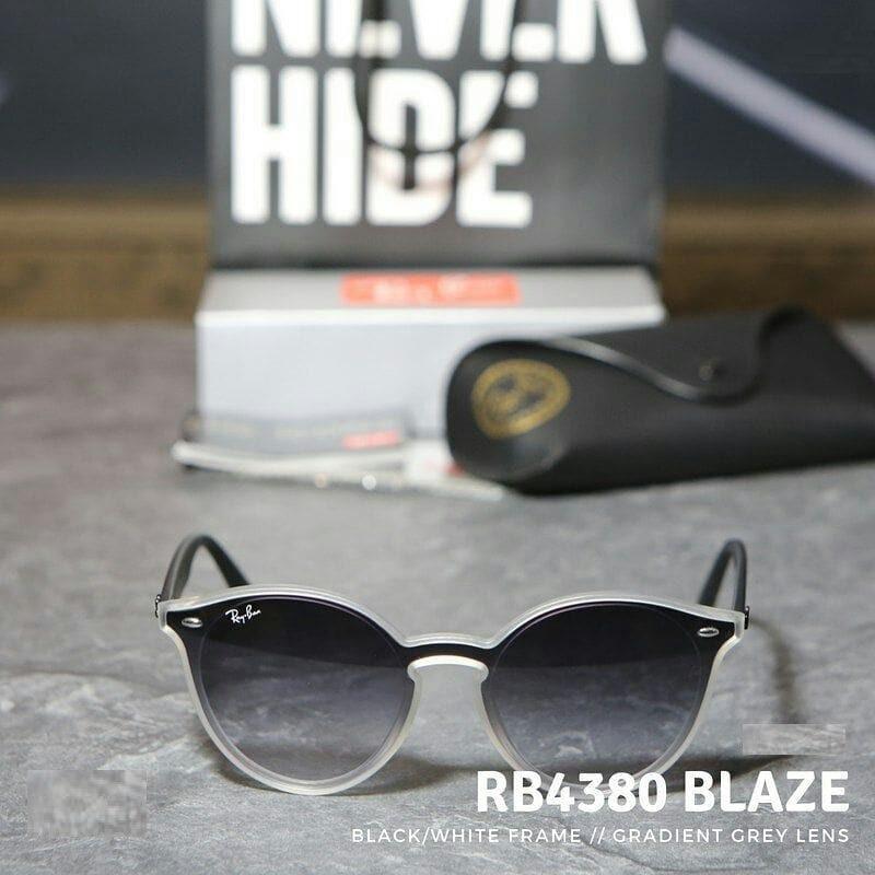 6d107e426d16d oculos de sol ray ban blaze round rb4380 unissex oferta prom. Carregando  zoom.