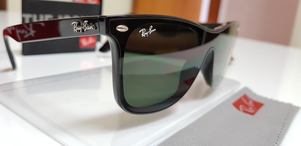 óculos de sol ray-ban blaze wayfarer nylon rb4440 verde g15. Carregando  zoom. 57c1491909