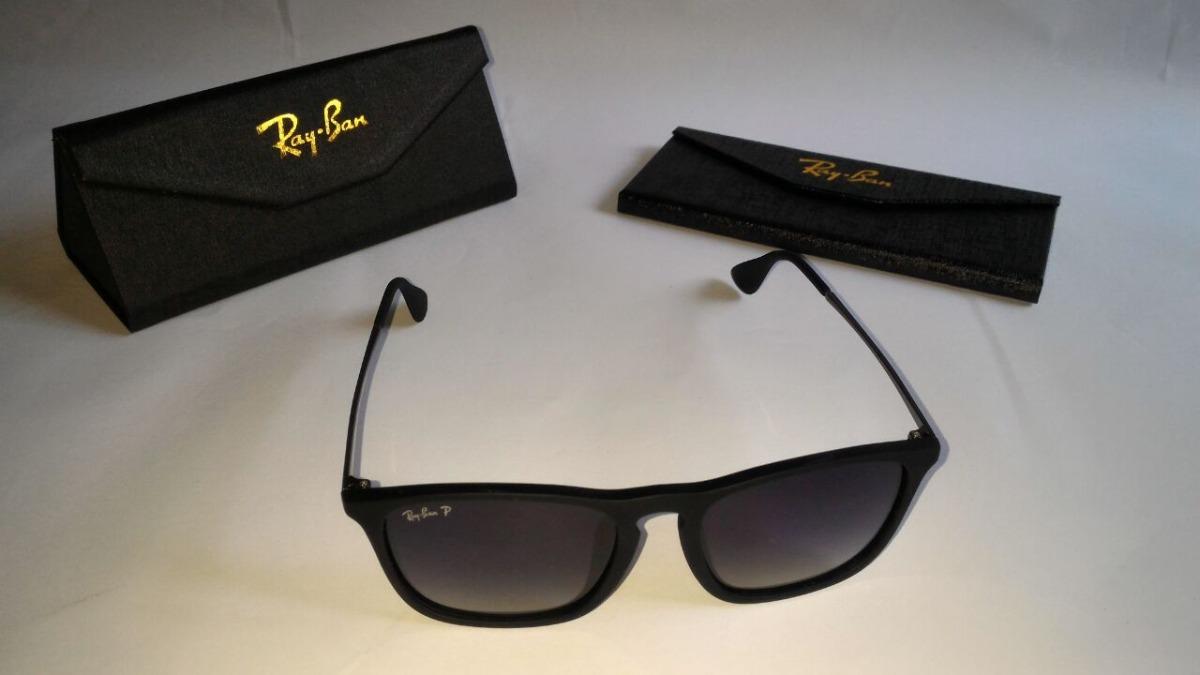 ee69255e0ba74 óculos de sol ray ban chris rb4187 54 20-133 preto fosco. Carregando zoom.
