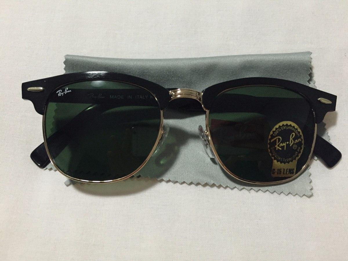 4bb0ce56b óculos de sol ray-ban clubmaster alumínio rb3507 preto/g15. Carregando zoom.