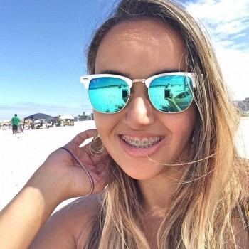 Oculos De Sol Ray-ban Clubmaster Azul Água Aluminium Rb3507 - R  159 ... 542a79b4c0