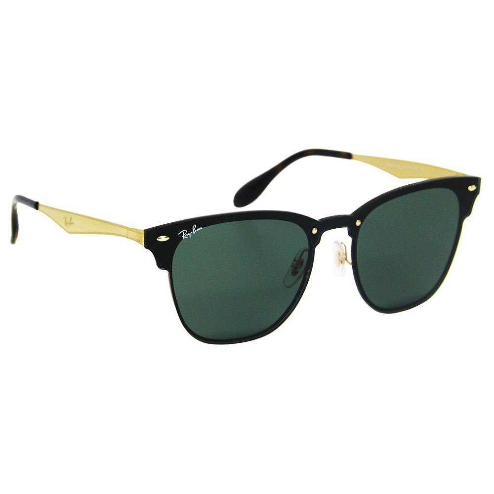 8b59ac3a13e42 óculos de sol ray-ban clubmaster blaze 3576 dourado. Carregando zoom.
