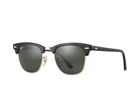 2c7ae49d9 Oculos De Sol Ray Ban Clubmaster Preto Rb3016 51-21