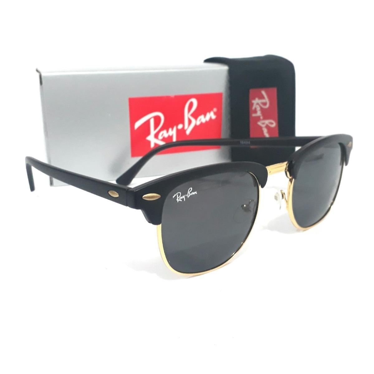 Óculos De Sol Ray Ban Clubmaster Preto Rb3016l 51-21 - R  147,90 em ... d5e672cde6