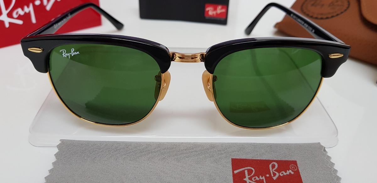 f483b76e43366 óculos de sol ray-ban clubmaster rb3016 verde g15 original. Carregando zoom.