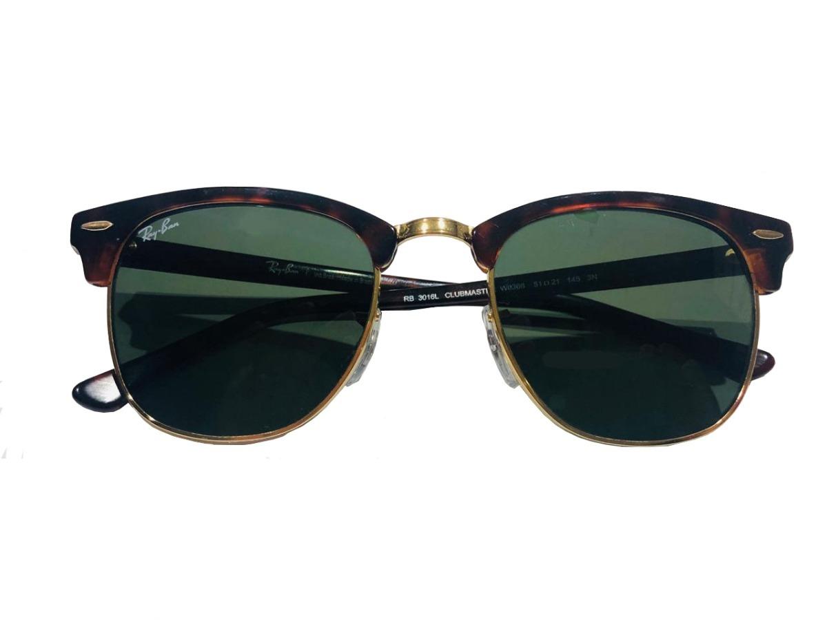 0031ffb43 Óculos De Sol Ray-ban Clubmaster Rb3016l W0366 Tartaruga/g15 - R ...