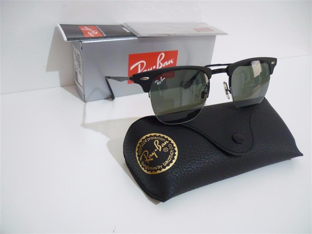 óculos de sol ray-ban clubmaster wood aluminium titanium. Carregando zoom. f059aa01ec